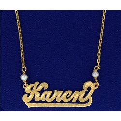 """Karen"" Necklace"