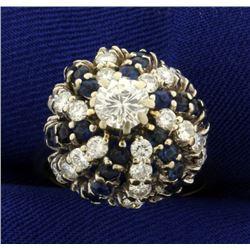 2 1/2ct TW Diamond and Sapphire Ring