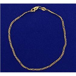 9 1/2 Inch Figaro Style Bracelet