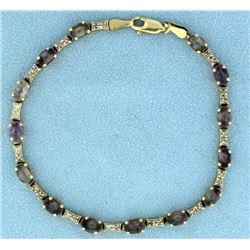 Diamond and Quartz Bracelet