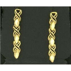 Linked Criss-Cross Dangle Earrings
