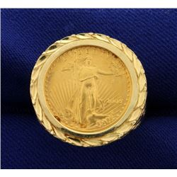 1/10oz Gold American Eagle Coin Ring