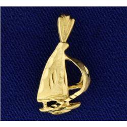 Sailboat Pendant or Charm