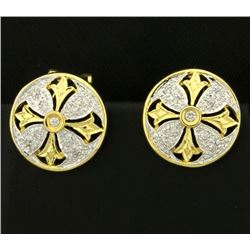 Diamond Designer Earrings in 14k Gold