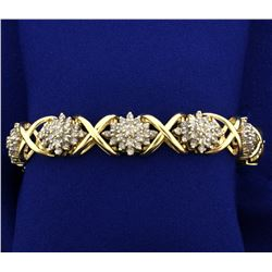Over 7 ct TW Diamond Bracelet in 14k Gold