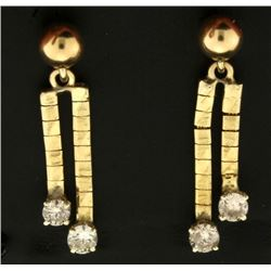 .9ct TW Dangle Diamond Earrings