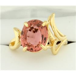5ct Morganite Solitaire Ring