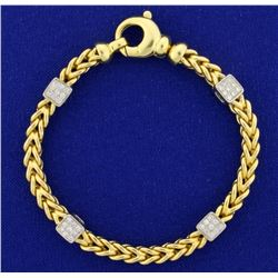 Designer Diamond Bracelet in 18k Gold