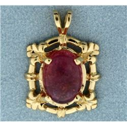 6ct Pink Rubellite Pendant in 14k Gold