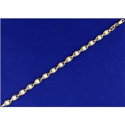 Cultured Pearl Bracelet in 14k Gold