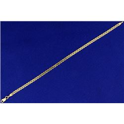 7 1/2 Inch Italian Made Mariner/Anchor Link Bracelet in 14k Gold