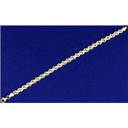 Unique Diamond Cut 7 Inch Bracelet in 14k Gold