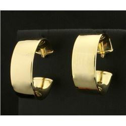 3/4 Inch Diameter 14k Gold Hoop Earrings