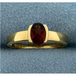 1ct Natural Garnet Gemstone Ring