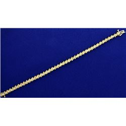 1.5ct TW Champagne Diamond Tennis Bracelet