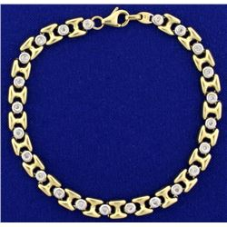 1/2 ct TW Diamond Gold Bracelet