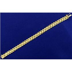 7 1/2 Inch Jubilee Link Bracelet in 10K Yellow Gold