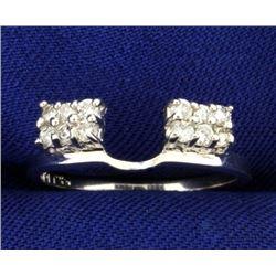 1/4 ct TW Diamond Ring Jacket in 14K White Gold