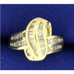 3/4ct TW Baguette Diamond Ring in 14K Yellow Gold
