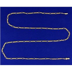 24 1/2 Inch Figaro Neck Chain in 18K Yellow Gold