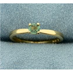 Solitaire Color Changing Alexandrite Ring in 14K Yellow Gold