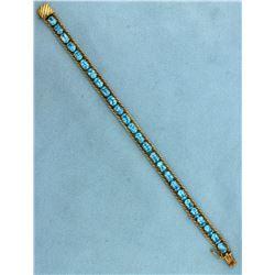 13 ct Blue Topaz Bracelet