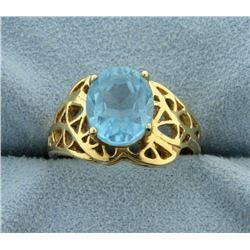 3ct Blue Topaz Ring