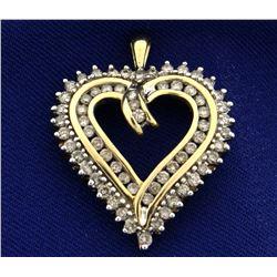 1 1/4ct TW Diamond Heart Pendant
