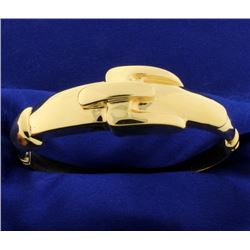 Italian Made Buckle Bangle Bracelet