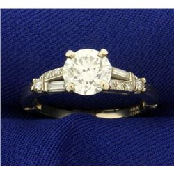 1 1/2ct TW Diamond Ring with Arthritic Adjustable Shank
