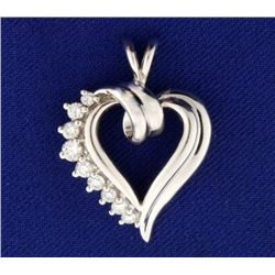 1/3 ct TW Diamond Heart Pendant