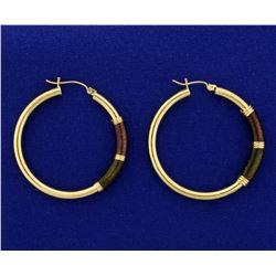 Large 14k Gold Hoop Earrings