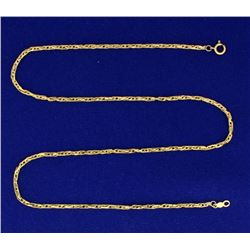 17 Inch Flat Rope Style Neck Chain in 14k Gold
