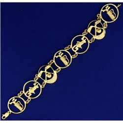 Custom Designed Golf Bracelet in 14k Gold