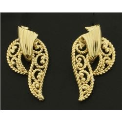 Designer 14k Gold Earrings for Non Pierced Ears