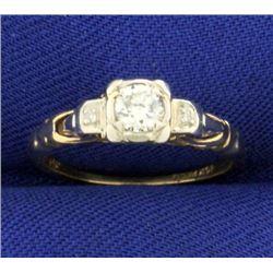 1/4ct TW Vintage Diamond Ring