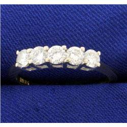 1ct TW Five Stone Diamond Ring in 14k Gold