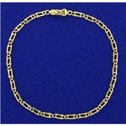 Designer Link 8 Inch Bracelet in 18K Yellow Gold