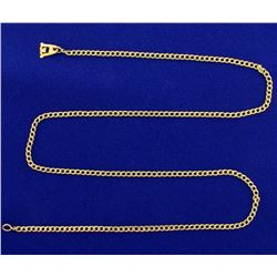 21 1/2 Inch Flat Curb Link Neck Chain in 18K Yellow Gold