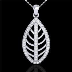 1 CTW Micro Pave VS/SI Diamond Designer Necklace 18K White Gold - REF-100W2F - 21546