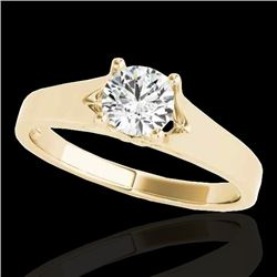 1 CTW H-SI/I Certified Diamond Solitaire Ring 10K Yellow Gold - REF-140N2Y - 35157