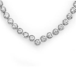 4.0 CTW Certified VS/SI Diamond Necklace 10K White Gold - REF-298K2W - 11675