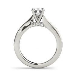 1.46 CTW Certified VS/SI Diamond Solitaire 2Pc Wedding Set 14K White Gold - REF-233F8N - 31676