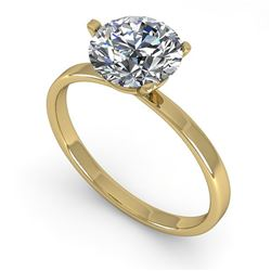 1.51 CTW Certified VS/SI Diamond Engagement Ring 14K Yellow Gold - REF-514M8H - 30581