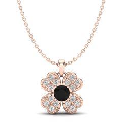 0.27 CTW Micro Pave VS/SI Diamond Necklace 14K Rose Gold - REF-23A3X - 20353