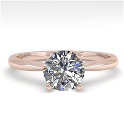 1.0 CTW VS/SI Diamond Engagement Designer Ring 18K Rose Gold - REF-289K5W - 32396