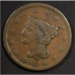 1841 LARGE CENT FINE - KEY DATE