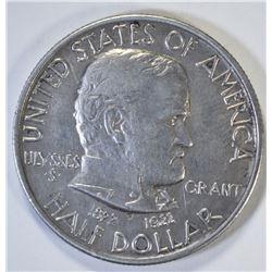 1922 GRANT COMMEM HALF DOLLAR, AU