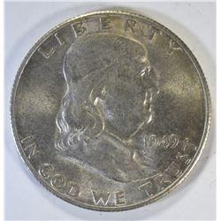 1949-S FRANKLIN HALF DOLLAR, AU/BU