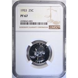 1953 WASHINGTON QUARTER, NGC PF-67